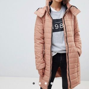 Hooded Pink padded / puffer coat